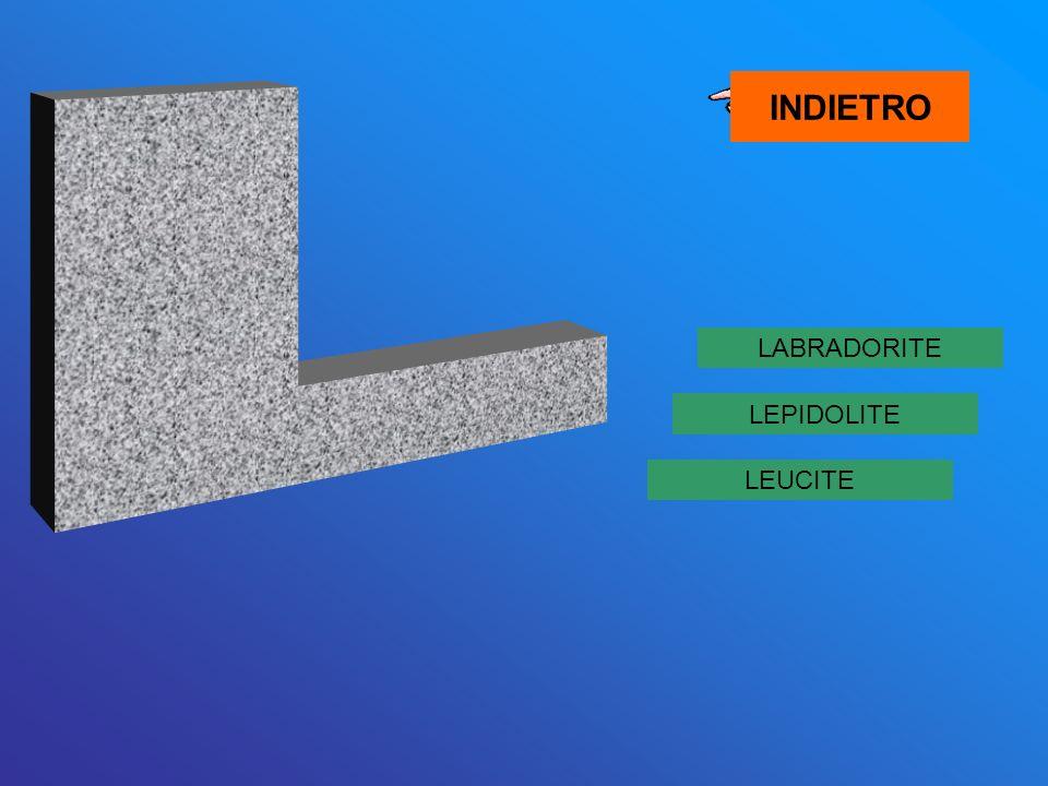 LABRADORITE LEUCITE LEPIDOLITE INDIETRO