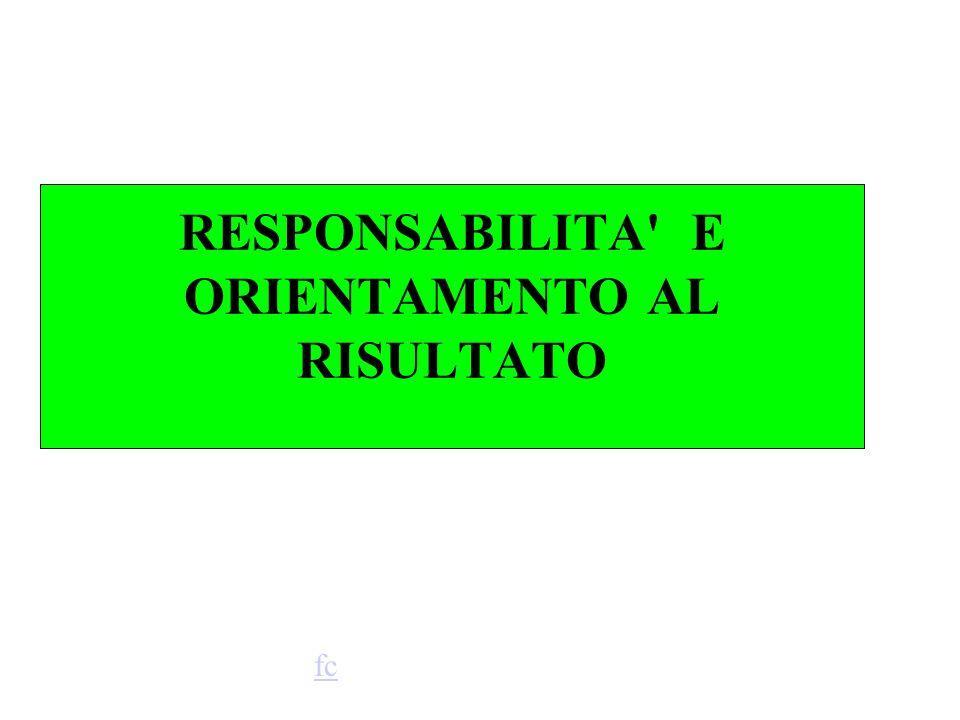RESPONSABILITA E ORIENTAMENTO AL RISULTATO fc