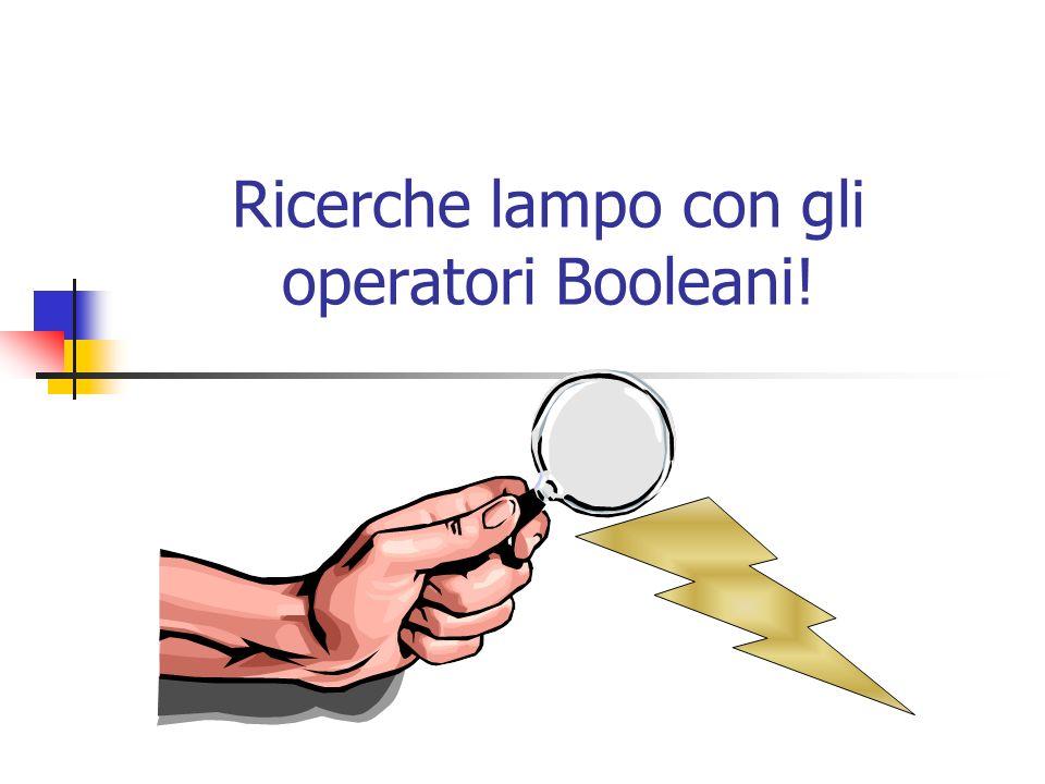 Ricerche lampo con gli operatori Booleani!