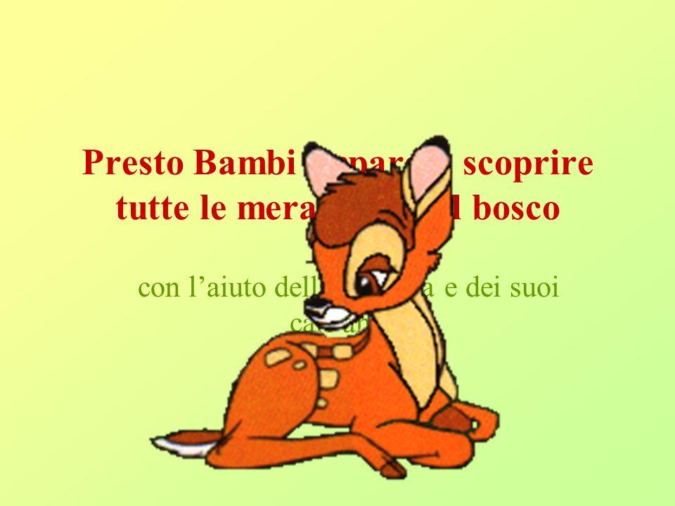 Presto Bambi impara a scoprire tutte le meraviglie del bosco con laiuto della mamma e dei suoi cari amici