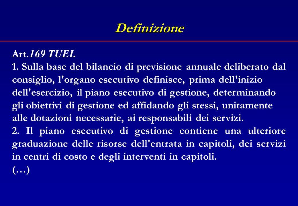 Il percorso Definizione La struttura La negoziazione degli obiettivi Lassegnazione delle risorse