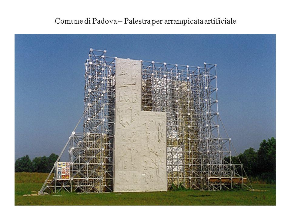 Comune di Padova – Palestra per arrampicata artificiale