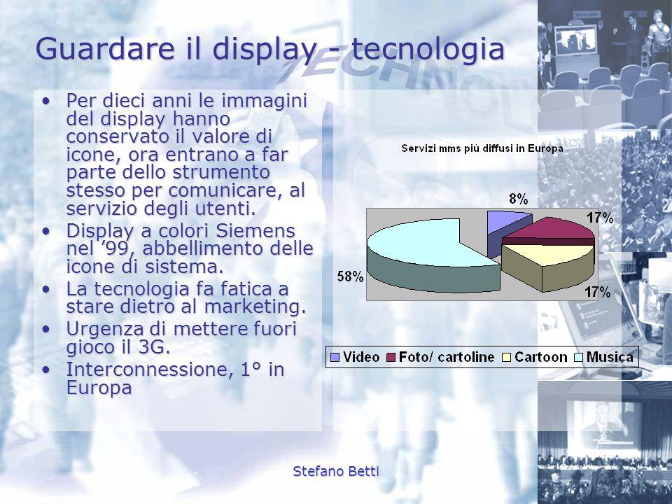 Stefano Betti Guardare il display - tecnologia Per dieci anni le immagini del display hanno conservato il valore di icone, ora entrano a far parte del