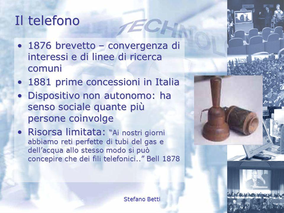 Stefano Betti Il telefono 1876 brevetto – convergenza di interessi e di linee di ricerca comuni1876 brevetto – convergenza di interessi e di linee di