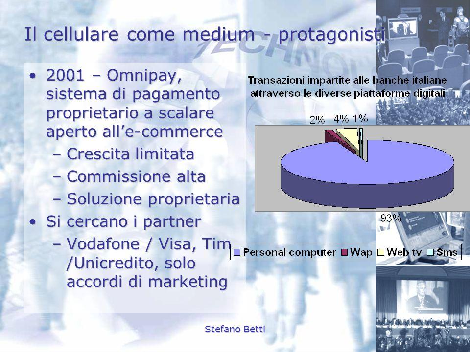 Stefano Betti Il cellulare come medium - protagonisti 2001 – Omnipay, sistema di pagamento proprietario a scalare aperto alle-commerce2001 – Omnipay,