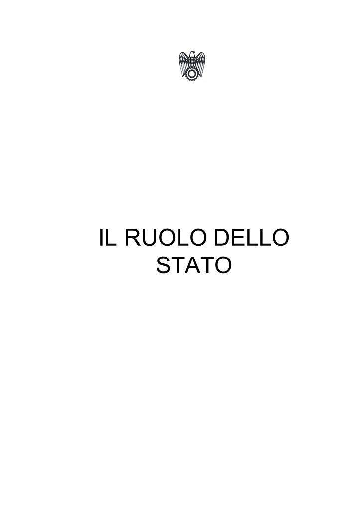 IL RUOLO DELLO STATO