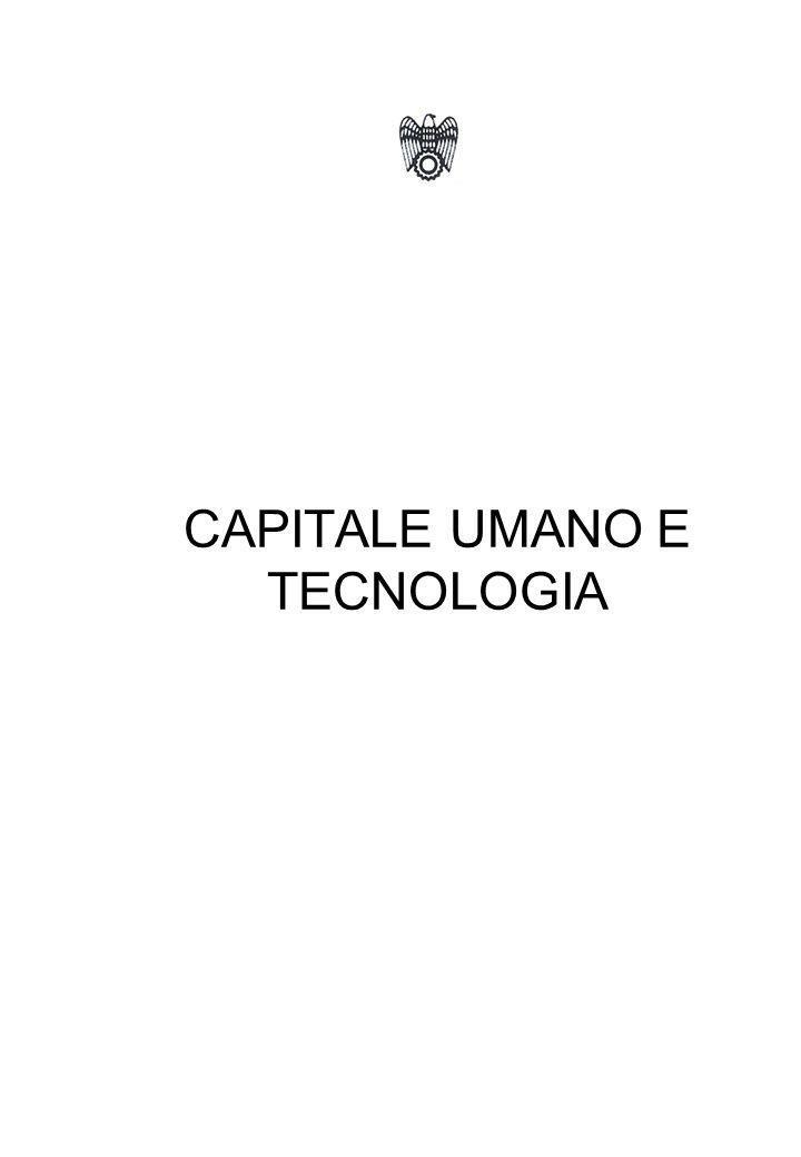 CAPITALE UMANO E TECNOLOGIA