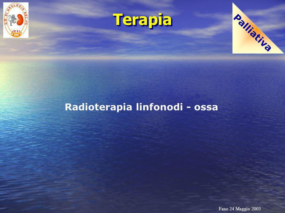Fano 24 Maggio 2003 TerapiaTerapia Sistemica Castrazione medica (analoghi LH-RH) Castrazione chirurgica (orchiectomia) Blocco androgeno combinato (castrazione + antiandrogeni)