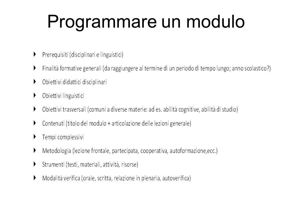 Programmare un modulo