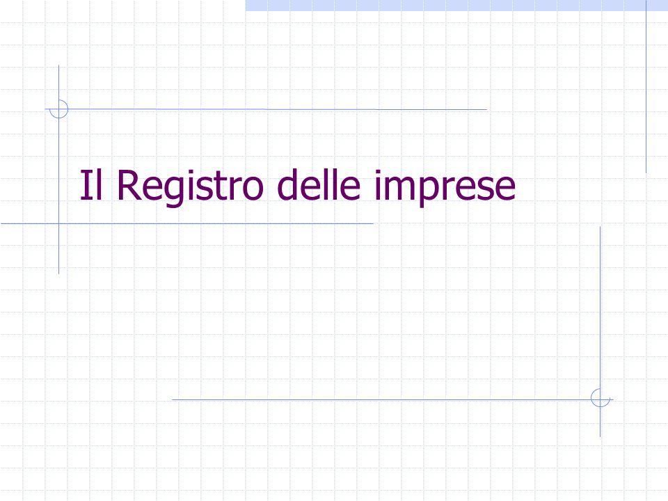 Il Registro delle imprese