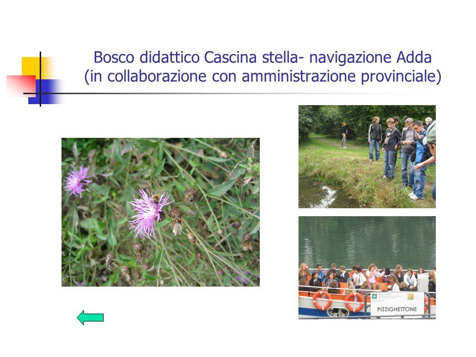 Bosco didattico Cascina stella- navigazione Adda (in collaborazione con amministrazione provinciale)