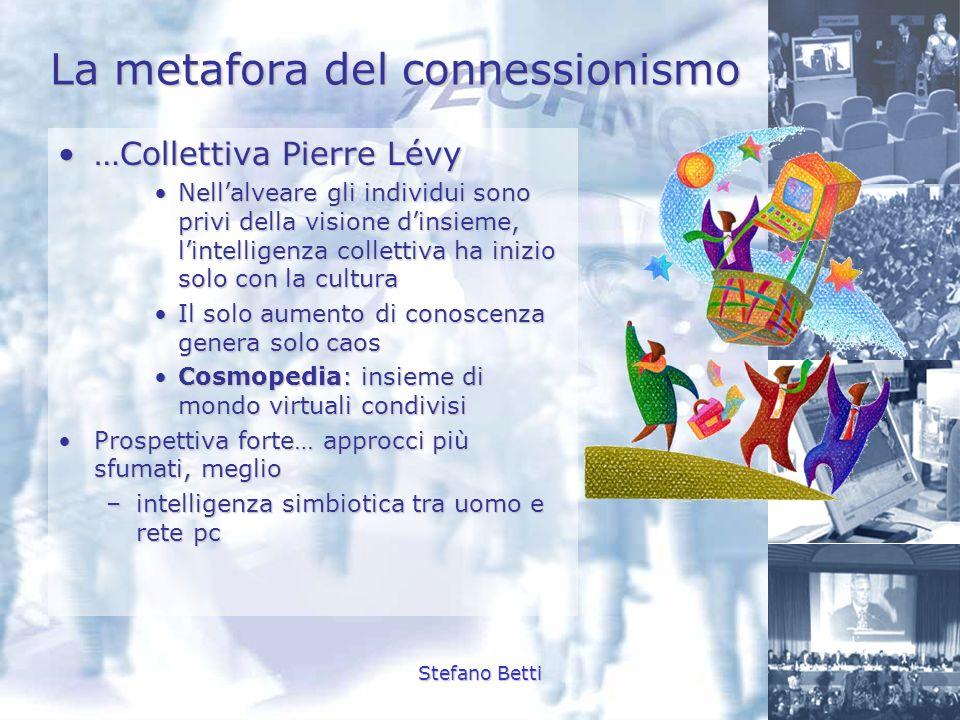 Stefano Betti La metafora del connessionismo …Collettiva Pierre Lévy…Collettiva Pierre Lévy Nellalveare gli individui sono privi della visione dinsiem