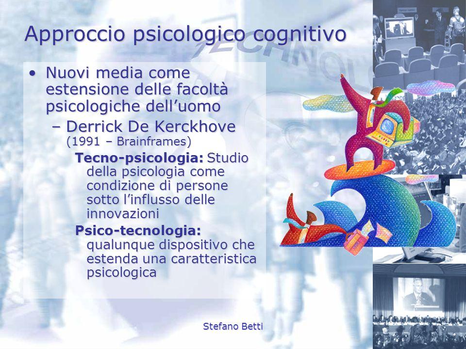 Stefano Betti Approccio psicologico cognitivo Nuovi media come estensione delle facoltà psicologiche delluomoNuovi media come estensione delle facoltà