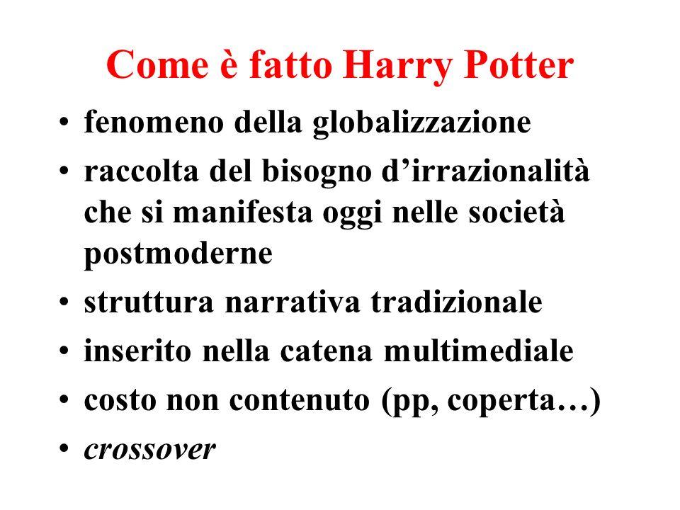 Come è fatto Harry Potter fenomeno della globalizzazione raccolta del bisogno dirrazionalità che si manifesta oggi nelle società postmoderne struttura