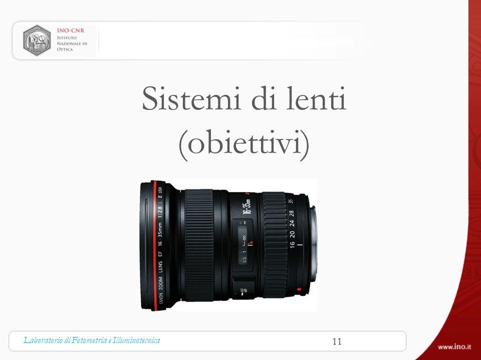 Sistemi di lenti (obiettivi) Laboratorio di Fotometria e Illuminotecnica 11