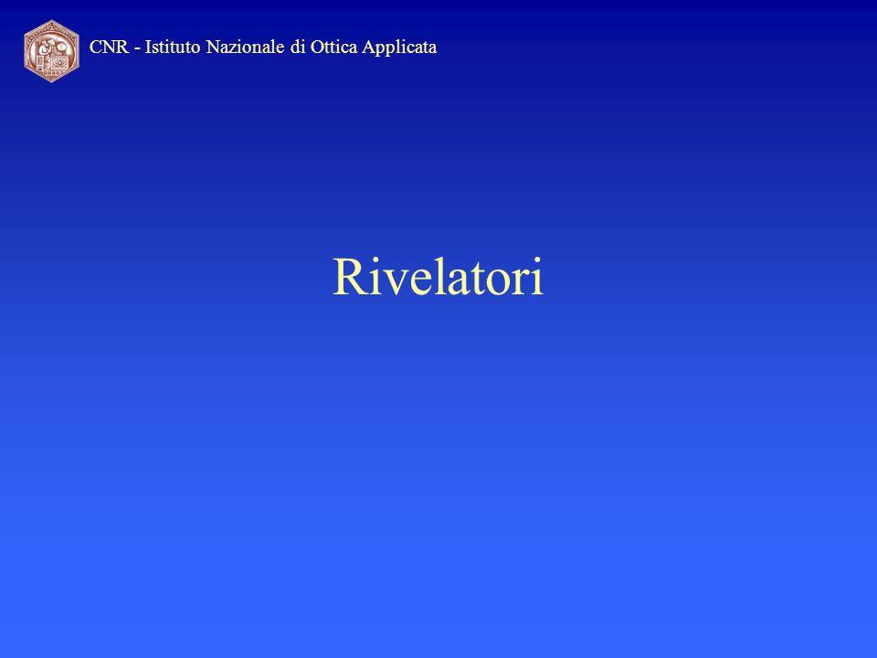 CNR - Istituto Nazionale di Ottica Applicata Rivelatori