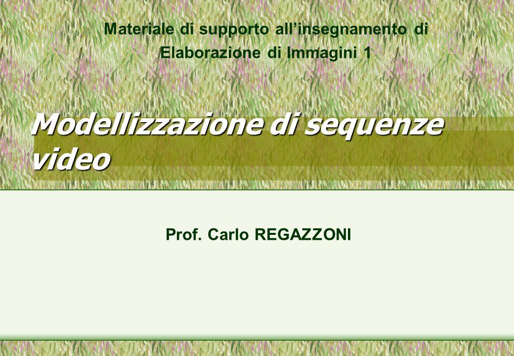Modellizzazione di sequenze video Materiale di supporto allinsegnamento di Elaborazione di Immagini 1 Prof. Carlo REGAZZONI