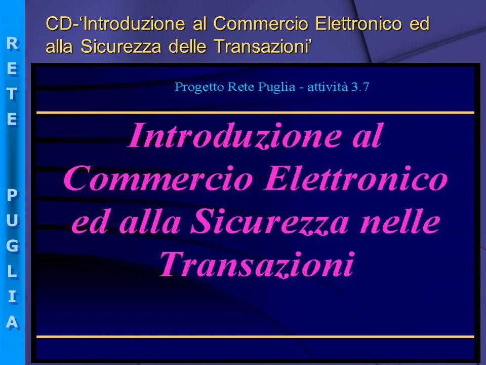 RETEPUGLIARETEPUGLIA RETEPUGLIARETEPUGLIA CD-Introduzione al Commercio Elettronico ed alla Sicurezza delle Transazioni