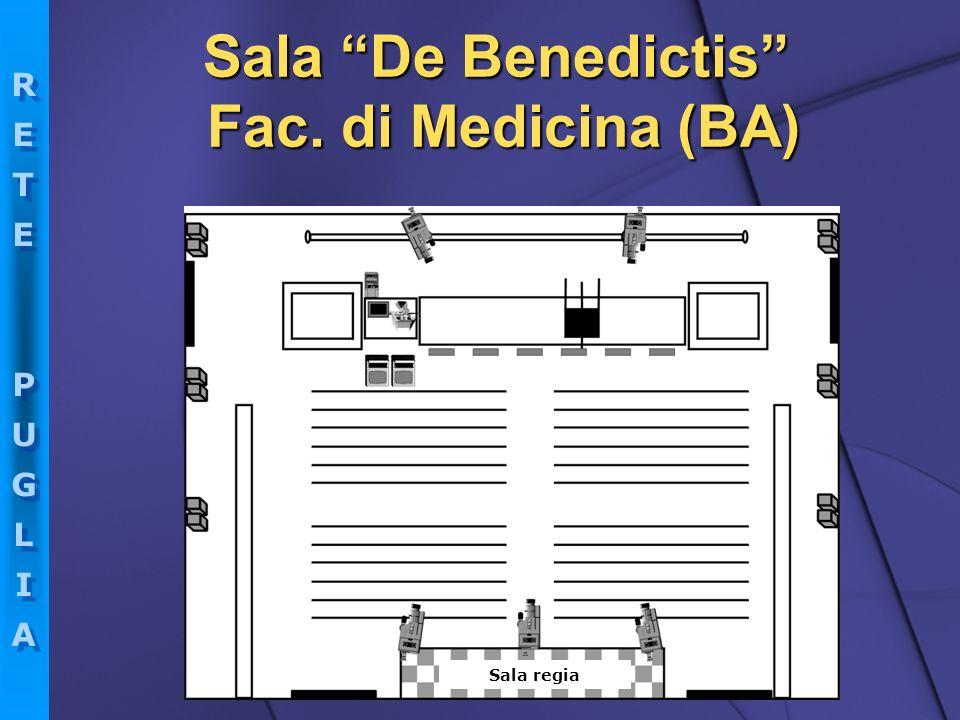 RETEPUGLIARETEPUGLIA RETEPUGLIARETEPUGLIA Sala De Benedictis Fac. di Medicina (BA) Sala regia