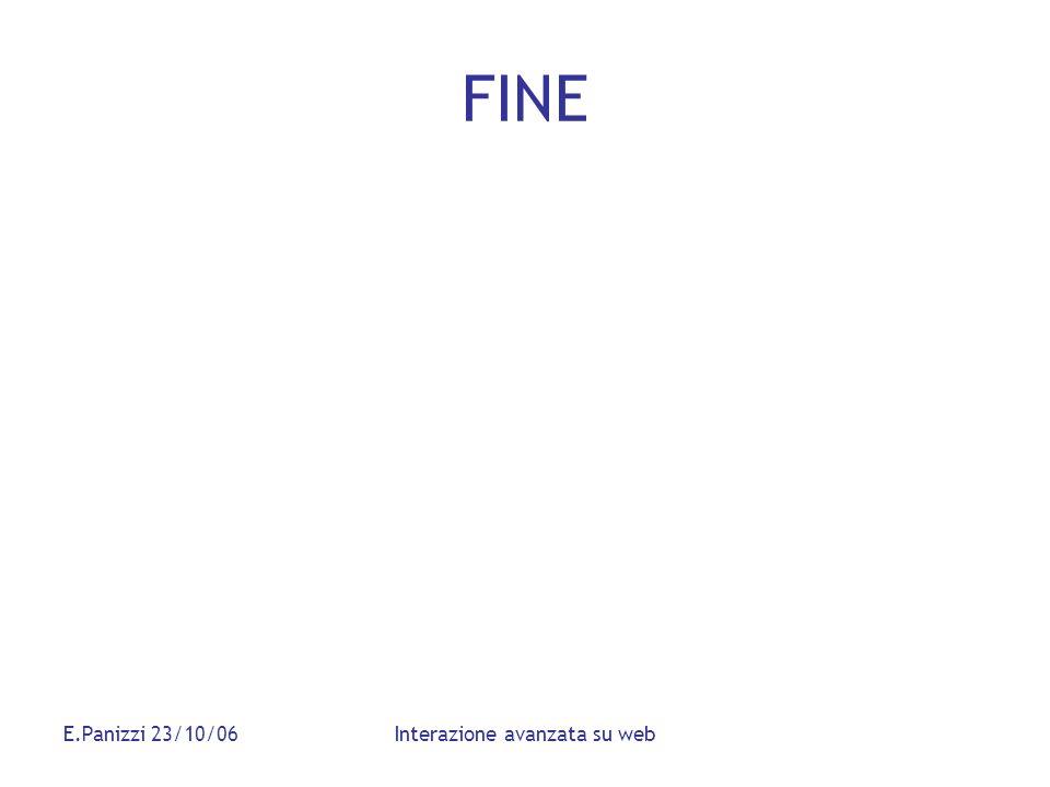 E.Panizzi 23/10/06Interazione avanzata su web FINE