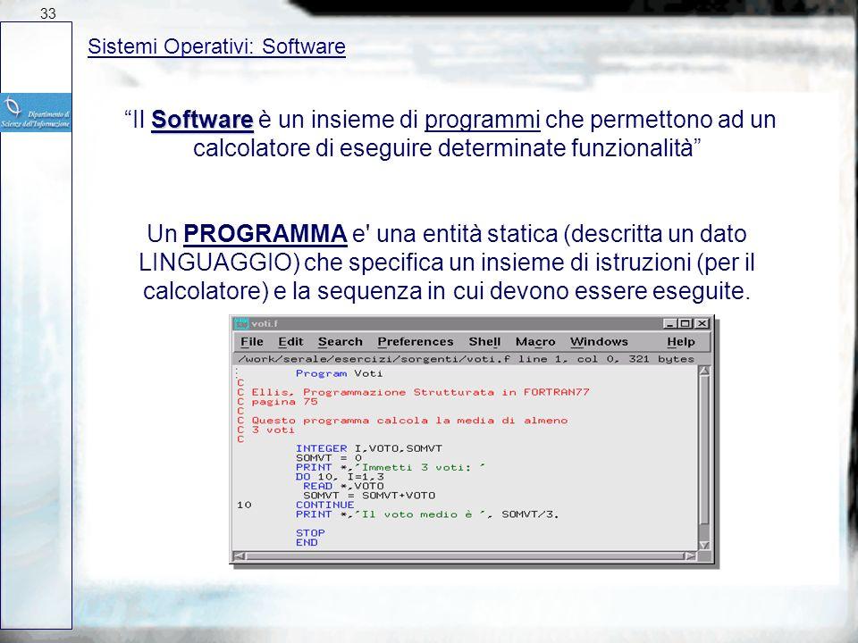 Concetti fondamentali Software Programmi 32