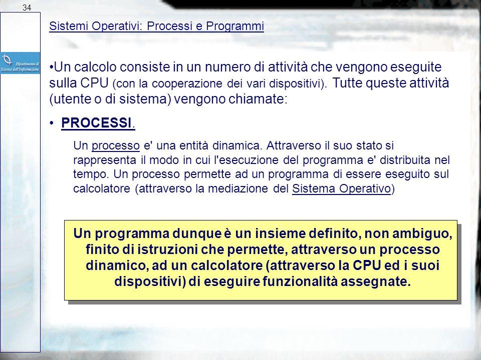 Sistemi Operativi: Software Software Il Software è un insieme di programmi che permettono ad un calcolatore di eseguire determinate funzionalità Un PR