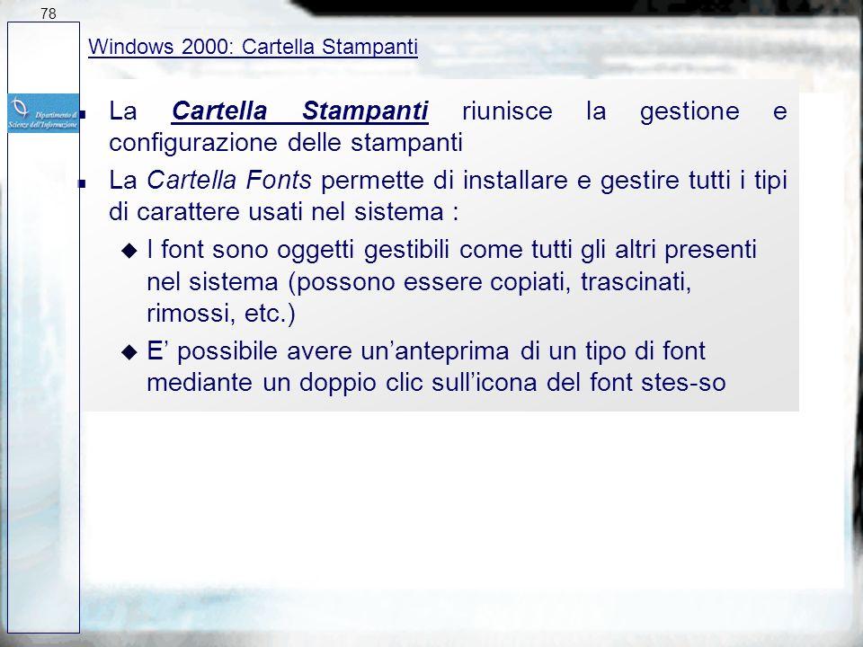 n Lutility Trova del menu Avvio permette di : u Cercare nomi di file incompleti : si trovano tutti i file il cui nome contiene una data stringa u Cerc