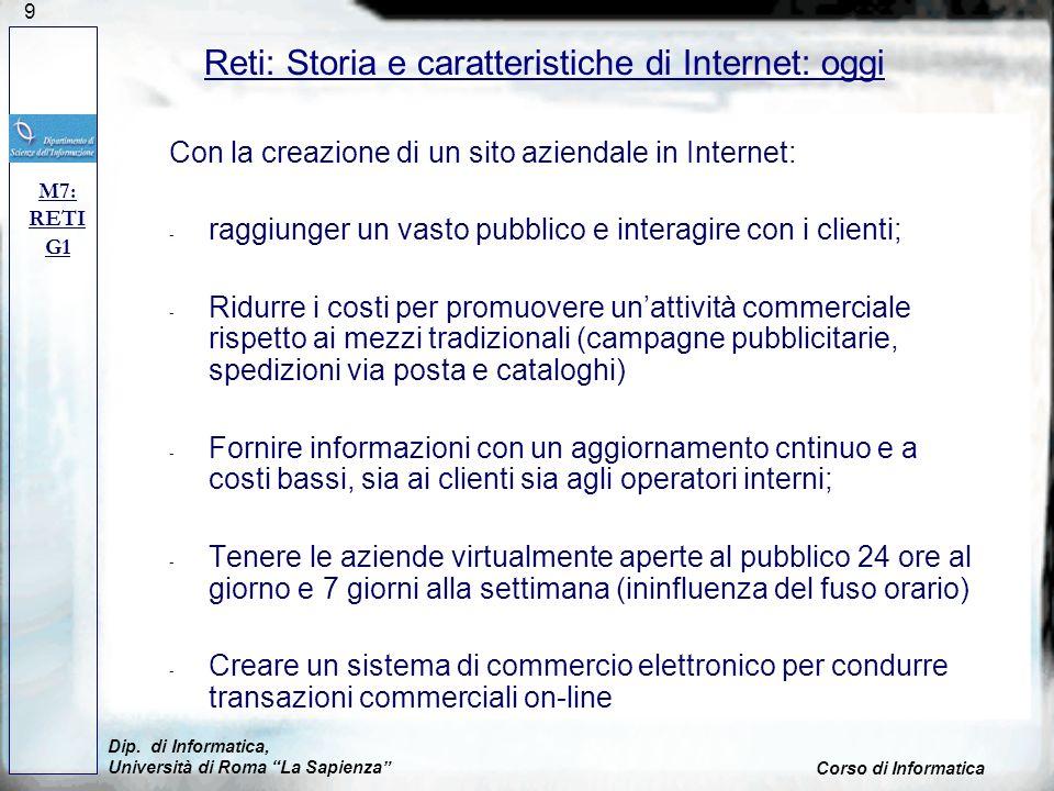 80 M7: RETI G1 Reti: Internet, Browsers e Navigazione Dip.