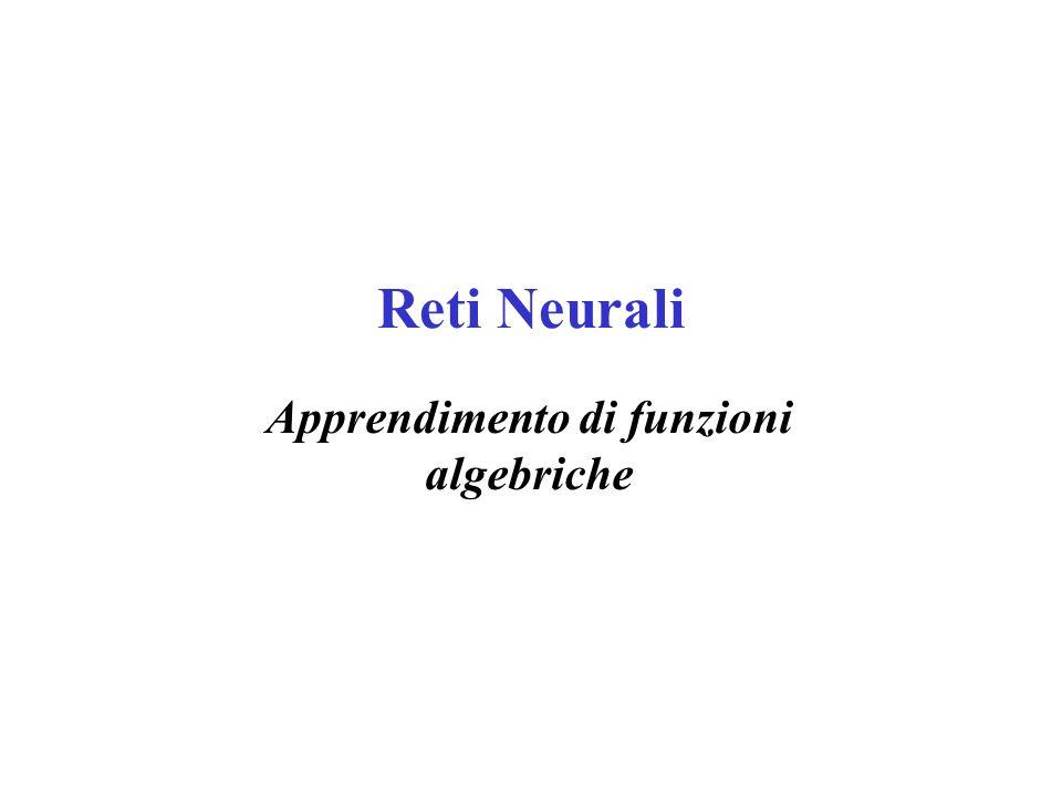Struttura della Rete L algoritmo di Backpropagation può essere applicato a qualsiasi grafo aciclico diretto, con funzione di attivazione sigmoidale.