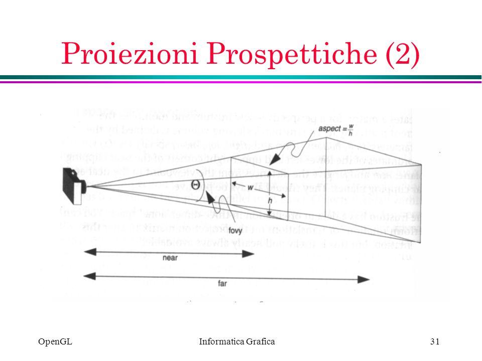 Informatica Grafica OpenGL31 Proiezioni Prospettiche (2)