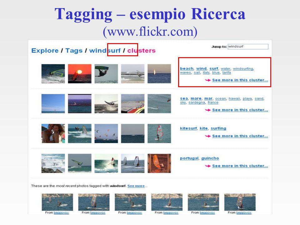 Tagging – esempio Ricerca (www.flickr.com)
