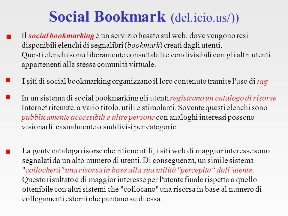 Social Bookmark (http://del.icio.us/)