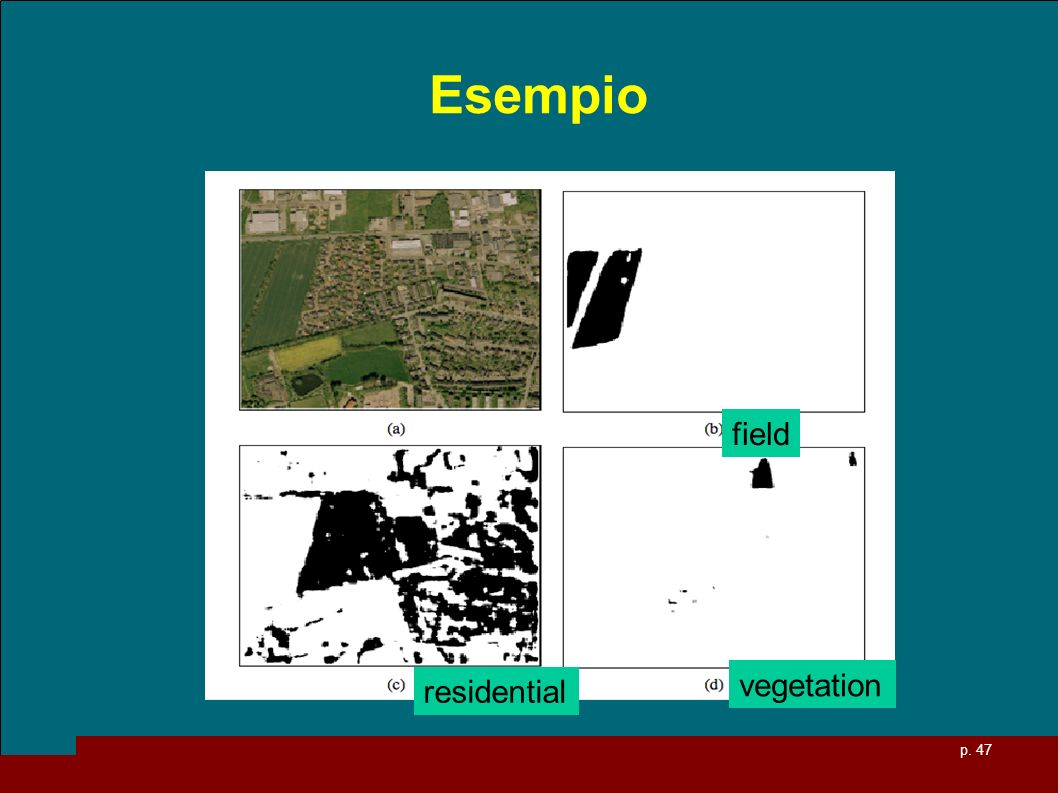 p. 47 Esempio field residential vegetation