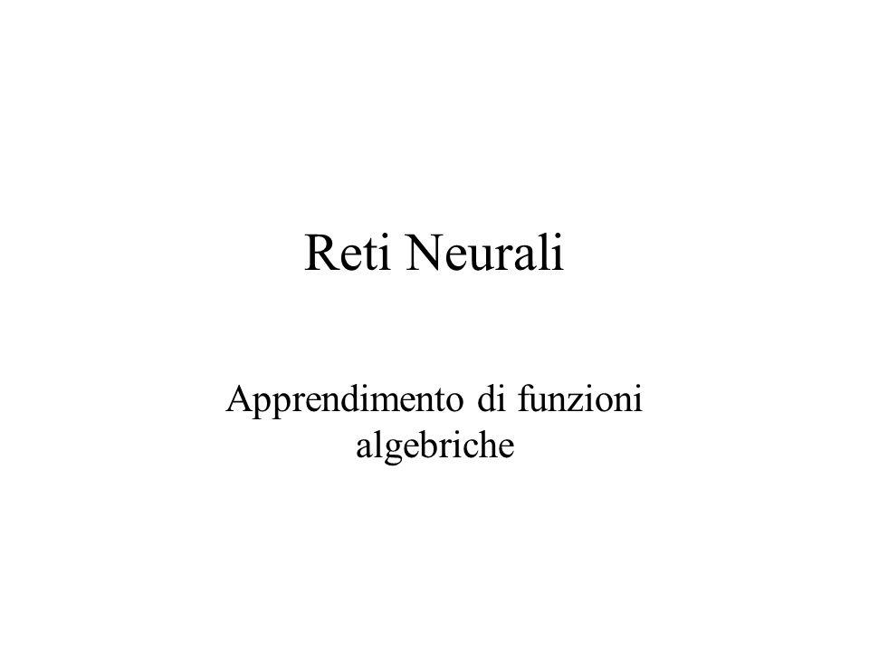 Reti Neurali Apprendimento di funzioni algebriche