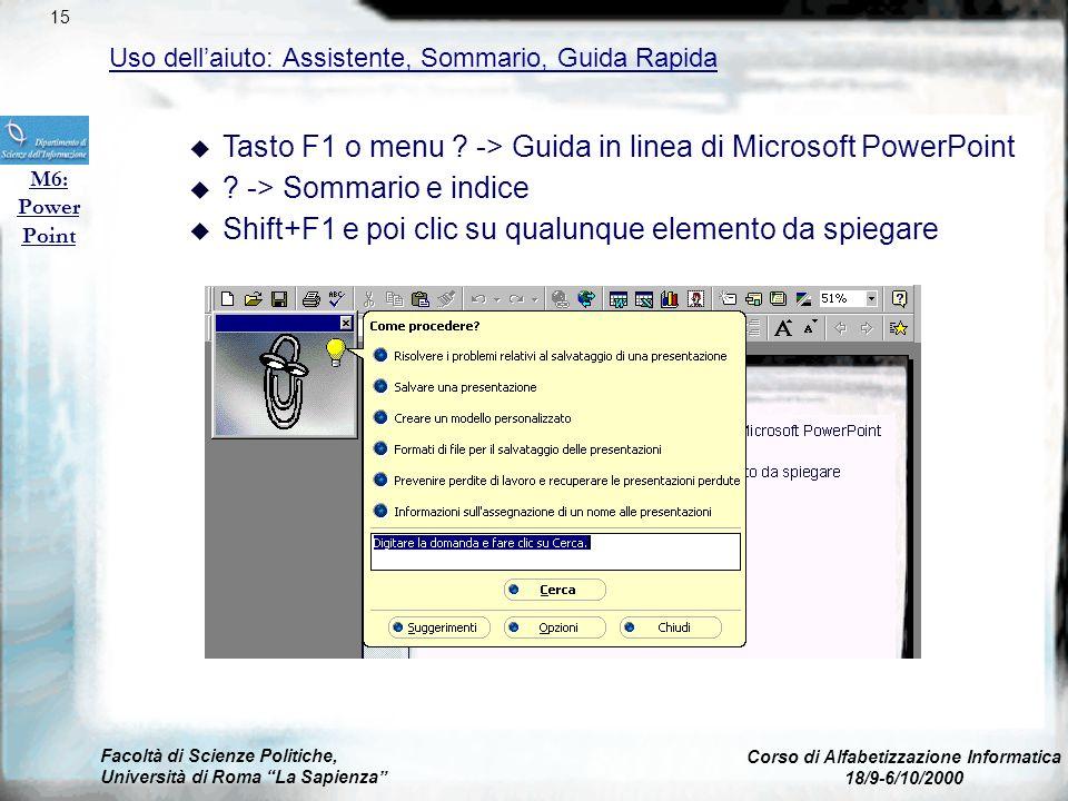 Facoltà di Scienze Politiche, Università di Roma La Sapienza Corso di Alfabetizzazione Informatica 18/9-6/10/2000 Gestione documenti: Lavorare con più
