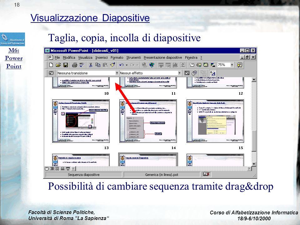Facoltà di Scienze Politiche, Università di Roma La Sapienza Corso di Alfabetizzazione Informatica 18/9-6/10/2000 Visualizzazione Struttura M6: Power