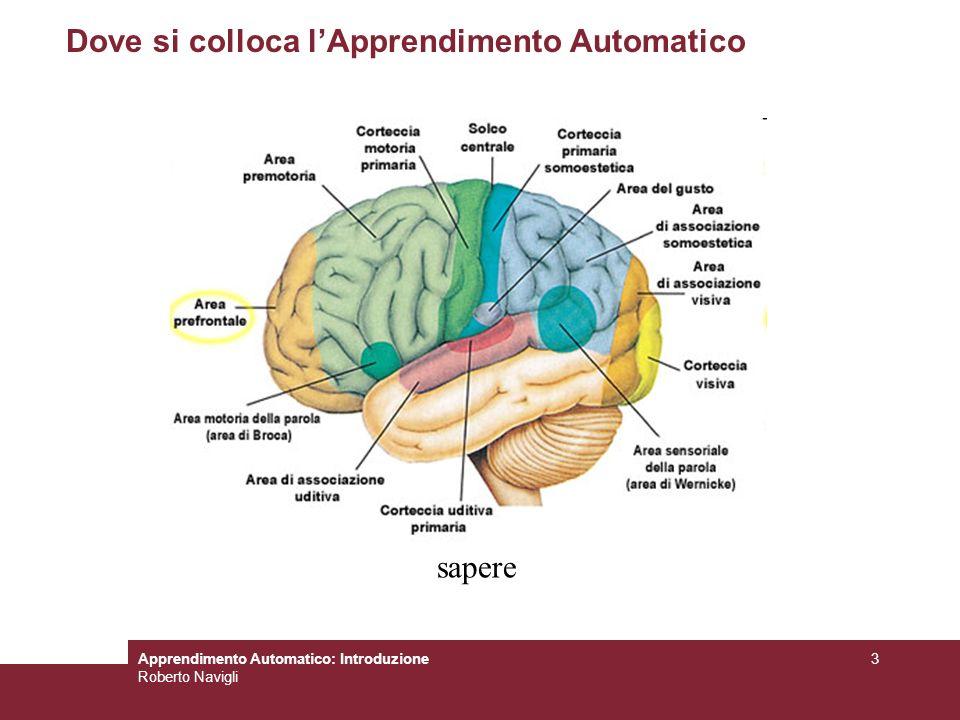 Apprendimento Automatico: Introduzione Roberto Navigli 3 Dove si colloca lApprendimento Automatico sapere