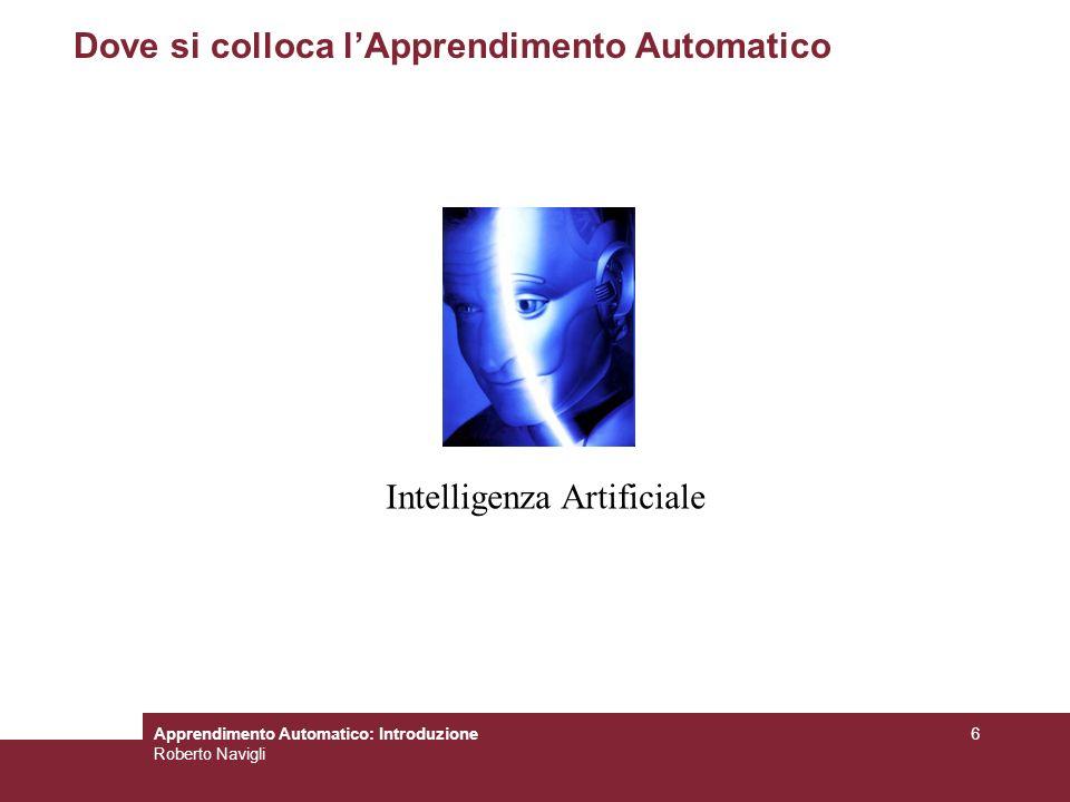 Apprendimento Automatico: Introduzione Roberto Navigli 7 Cosè lIntelligenza Artificiale.