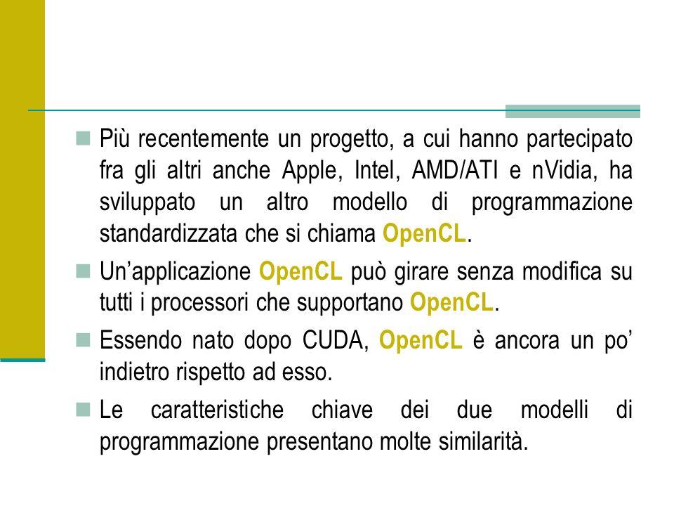 Più recentemente un progetto, a cui hanno partecipato fra gli altri anche Apple, Intel, AMD/ATI e nVidia, ha sviluppato un altro modello di programmazione standardizzata che si chiama OpenCL.