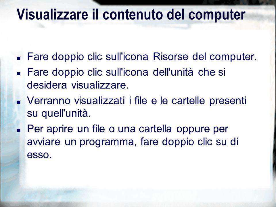 Ripritinare un file erroneamente cancellato n Fare doppio clic sull icona Cestino.