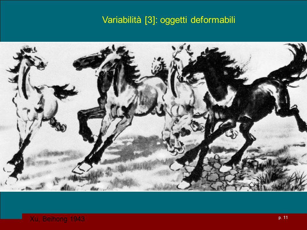 p. 11 Variabilità [3]: oggetti deformabili Xu, Beihong 1943