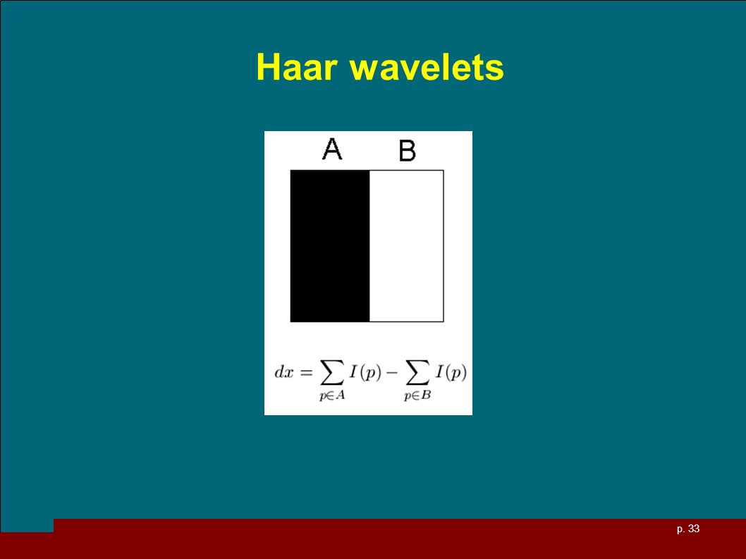 p. 33 Haar wavelets