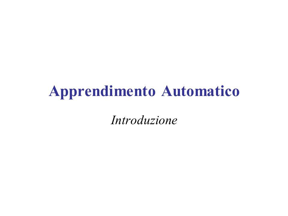 Apprendimento Automatico Introduzione