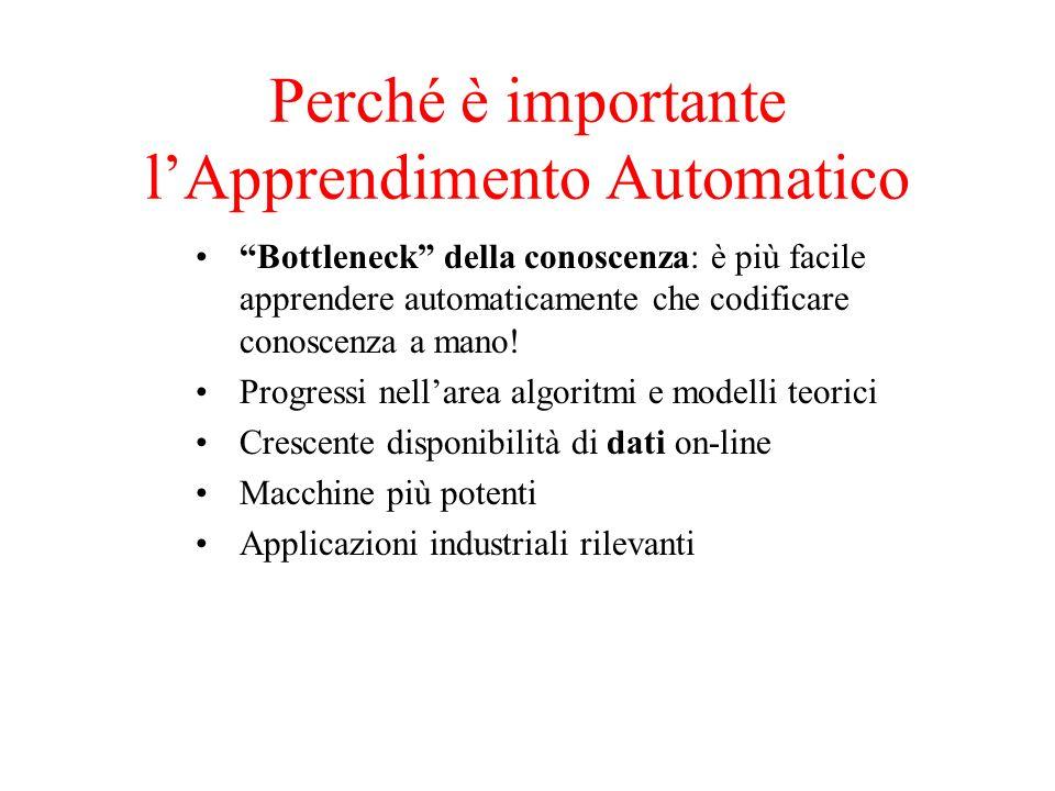 Perché è importante lApprendimento Automatico Bottleneck della conoscenza: è più facile apprendere automaticamente che codificare conoscenza a mano! P