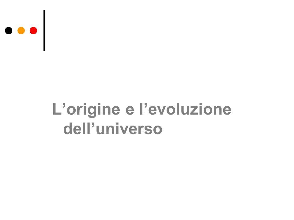 Lorigine e levoluzione delluniverso