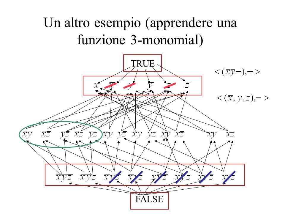 Un altro esempio (apprendere una funzione 3-monomial) TRUE FALSE