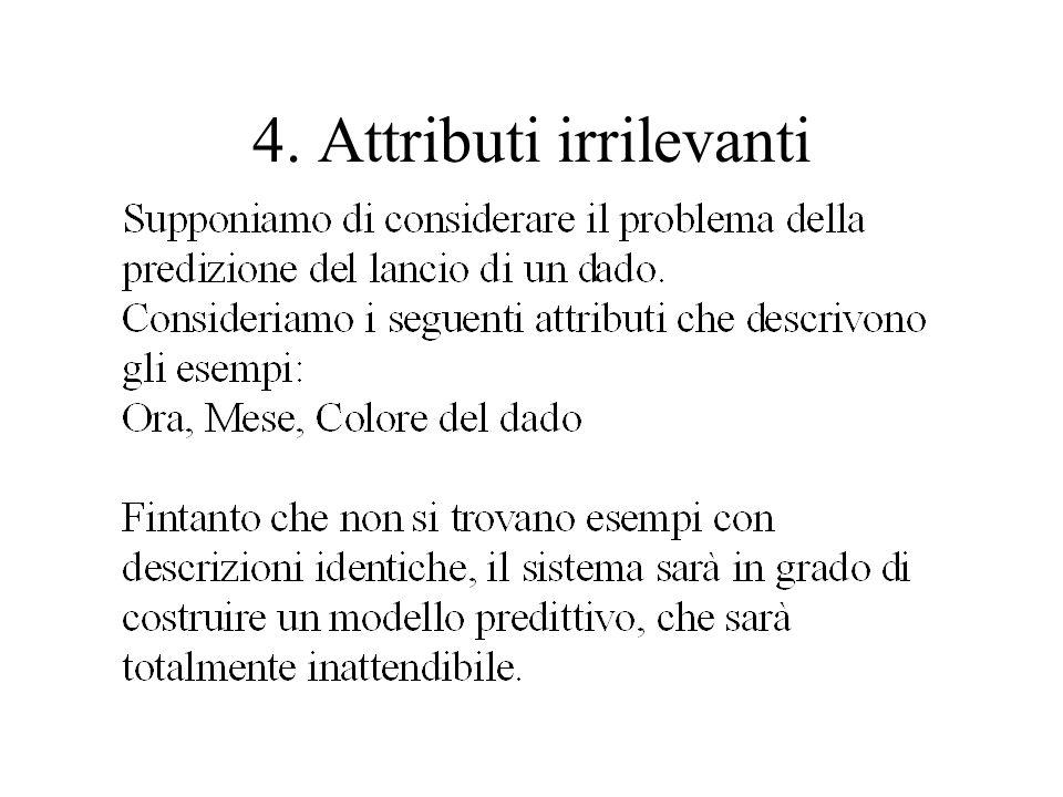 4. Attributi irrilevanti