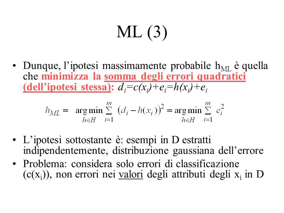 c(x) è la funzione da apprendere, gli esempi d i sono rumorosi con distribuzione del rumore e i gaussiana (uniformemente distribuio attorno al valore reale).