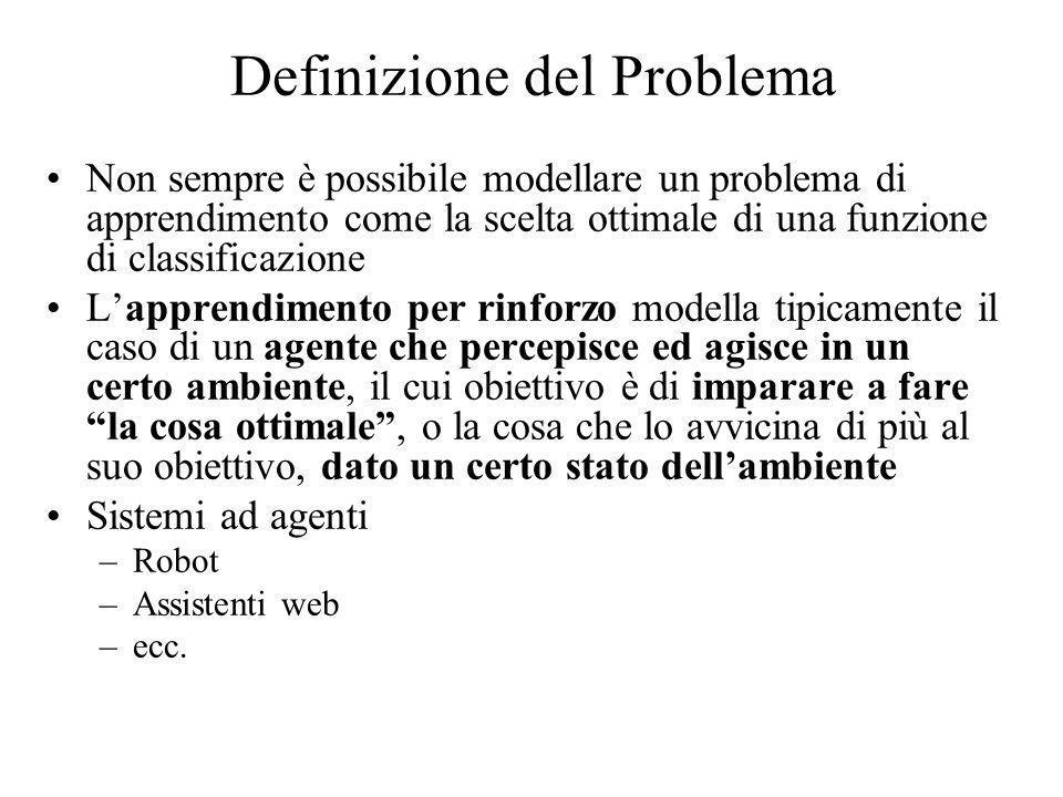 Definizione del Problema Non sempre è possibile modellare un problema di apprendimento come la scelta ottimale di una funzione di classificazione Lapp