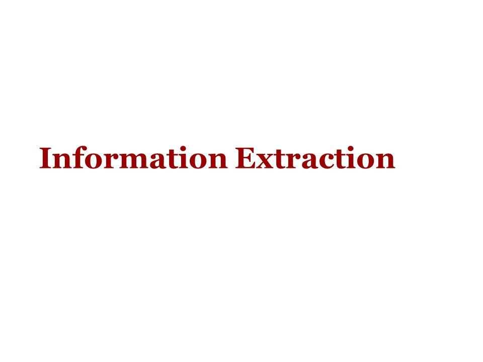 ELIE: fase di estrazione Nella fase di estrazione, ad ELIE vengono sottomessi testi non annotati ma preprocessati (ogni token è un vettore di features, ma fra le features non ci sono le tag di annotazione) Nella fase 1, i modelli L1-start e L1-end fanno le loro predizioni assegnando ad ogni token una classificazione (start, end, negative).